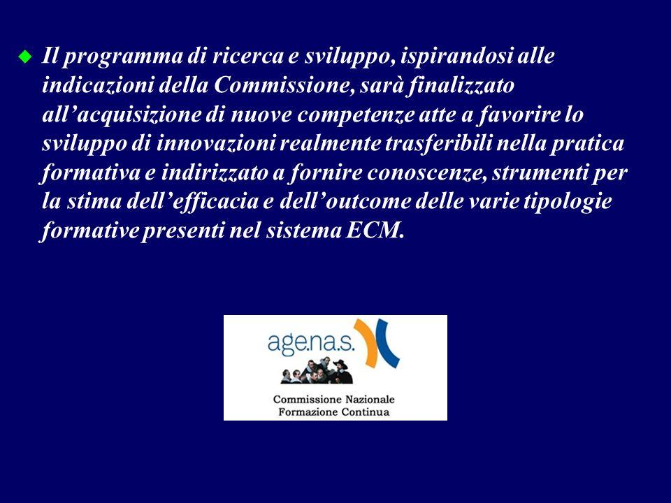 Il programma di ricerca e sviluppo, ispirandosi alle indicazioni della Commissione, sarà finalizzato allacquisizione di nuove competenze atte a favor