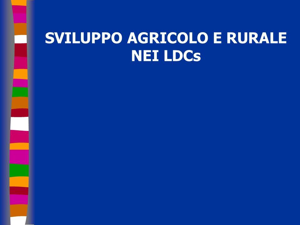 SVILUPPO AGRICOLO E RURALE NEI LDCs