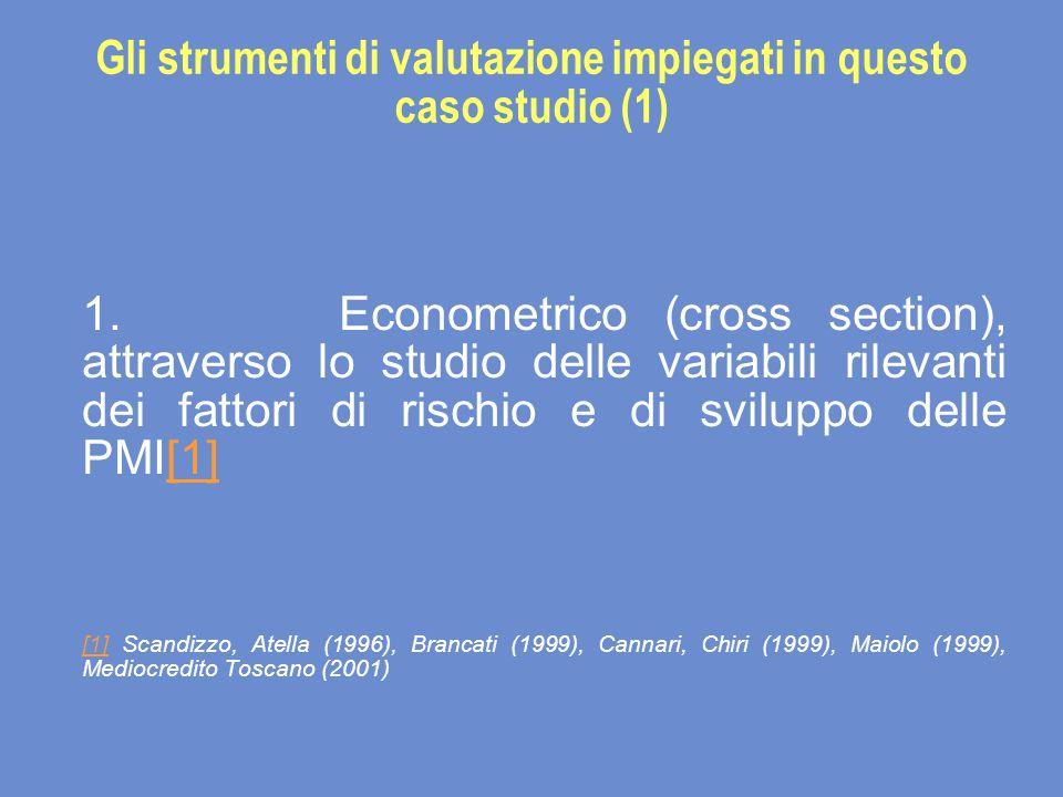 Gli strumenti di valutazione impiegati in questo caso studio (1) 1.
