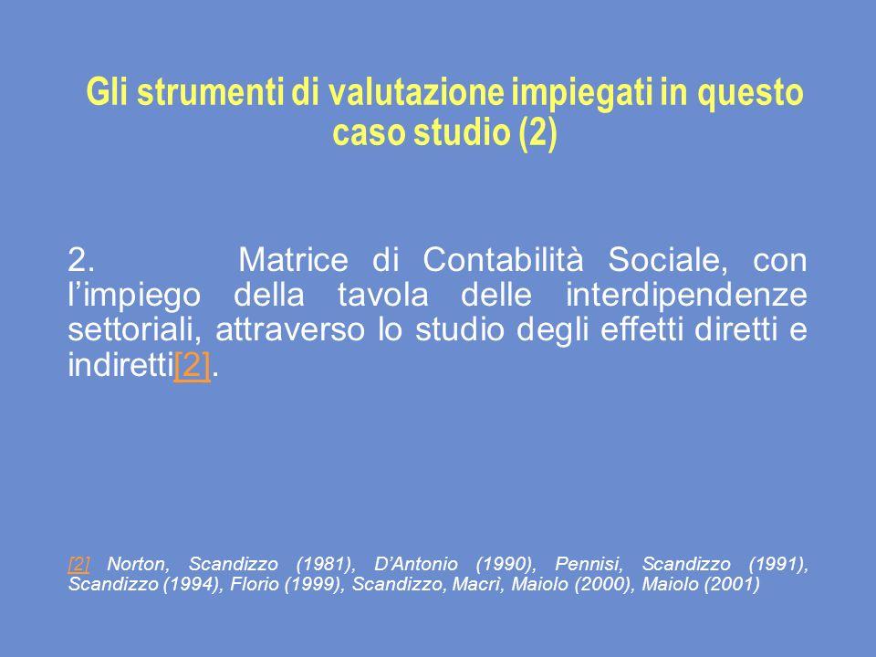 Gli strumenti di valutazione impiegati in questo caso studio (2) 2.