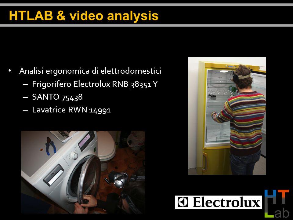 Analisi ergonomica di elettrodomestici – Frigorifero Electrolux RNB 38351 Y – SANTO 75438 – Lavatrice RWN 14991 HTLAB & video analysis