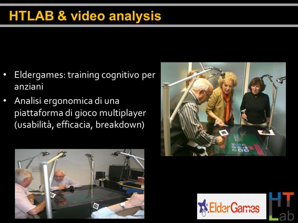 Eldergames: training cognitivo per anziani Analisi ergonomica di una piattaforma di gioco multiplayer (usabilità, efficacia, breakdown) HTLAB & video