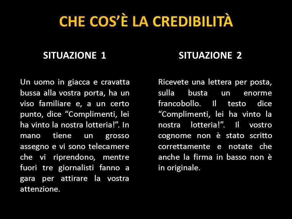 I 4 TIPI DI CREDIBILITÀ La credibilità si può manifestare in varie forme.