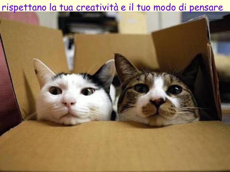 rispettano la tua creatività e il tuo modo di pensare