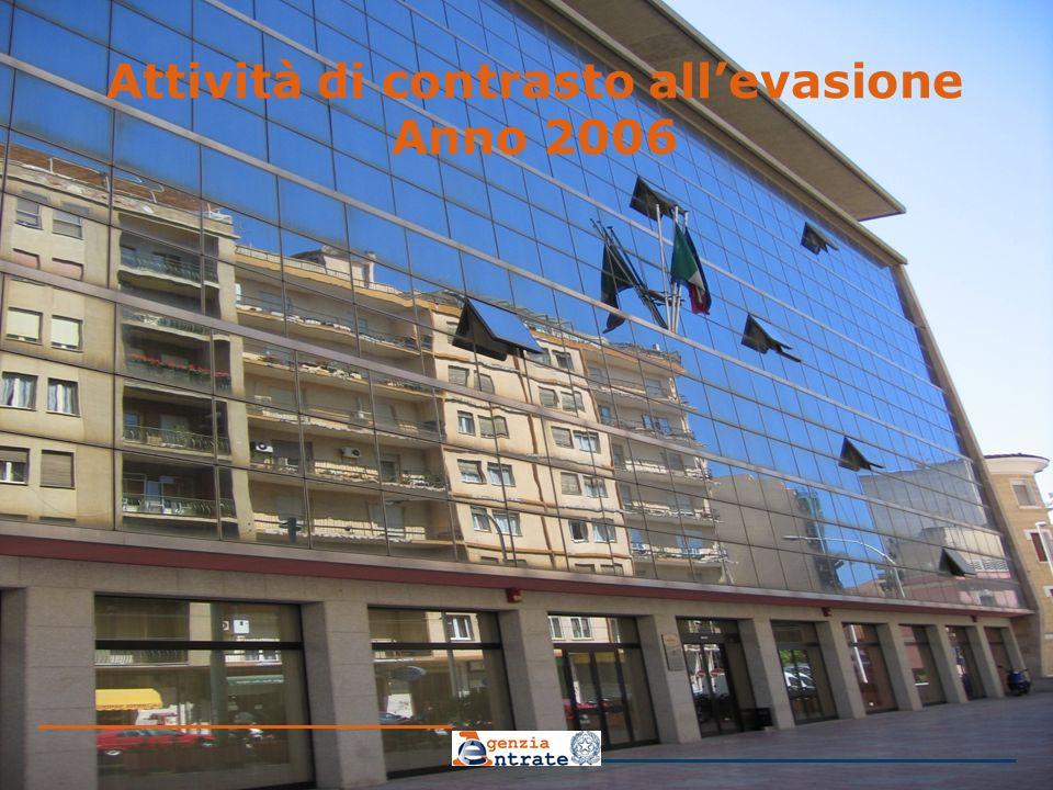 Attività di contrasto allevasione Anno 2006