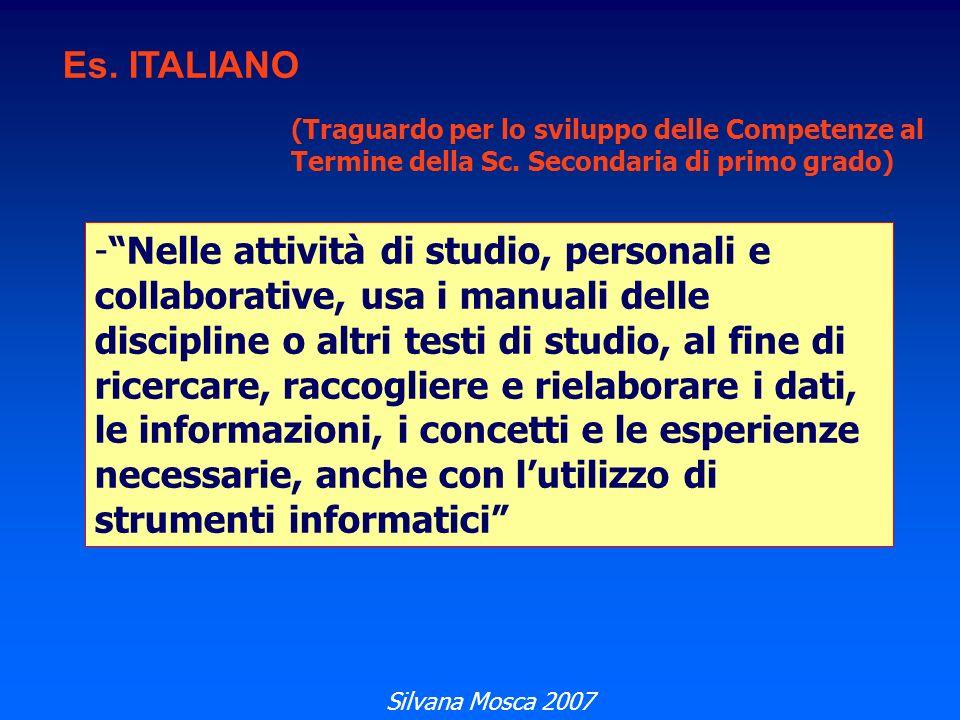 Es.ITALIANO (Traguardo per lo sviluppo delle Competenze al Termine della Sc.