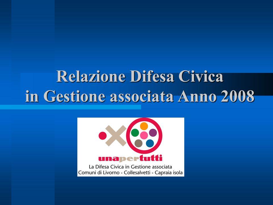 Relazione Difesa Civica in Gestione associata Anno 2008