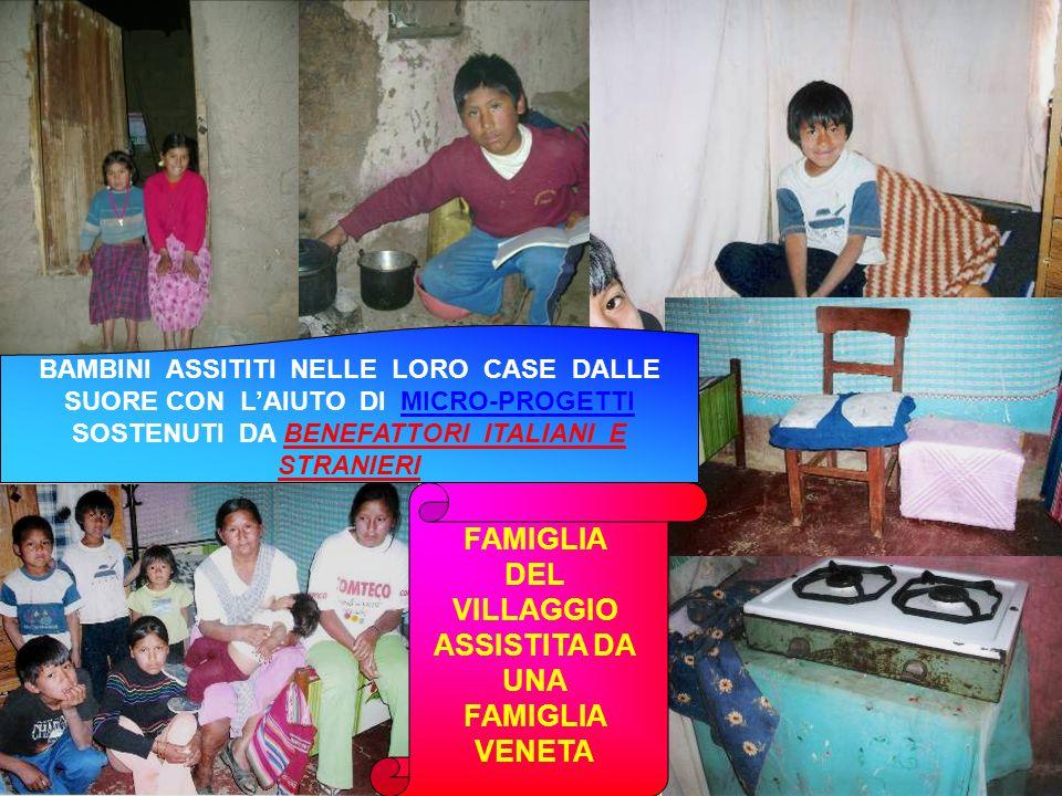 FAMIGLIA DEL VILLAGGIO ASSISTITA DA UNA FAMIGLIA VENETA BAMBINI ASSITITI NELLE LORO CASE DALLE SUORE CON LAIUTO DI MICRO-PROGETTI SOSTENUTI DA BENEFAT