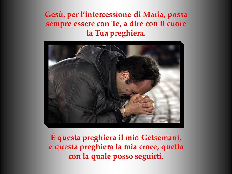 Gesù, per lintercessione di Maria, possa sempre essere con Te, a dire con il cuore la Tua preghiera.