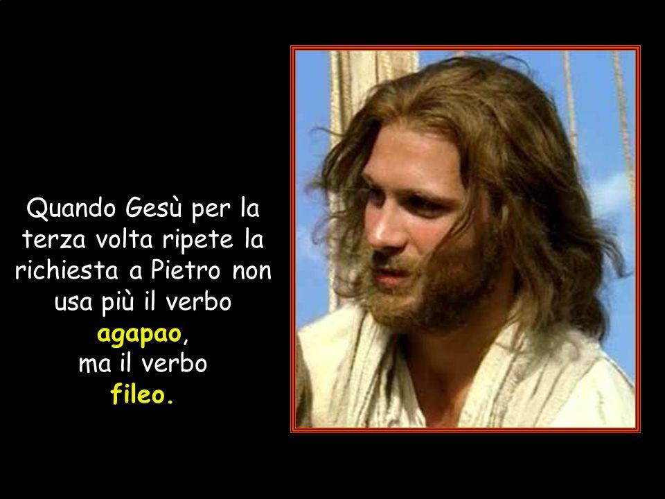e per due volte ha da Pietro, che ha conosciuto lamara tristezza dellinfedeltà, il dramma della propria debolezza, la stessa umile risposta: Signore,