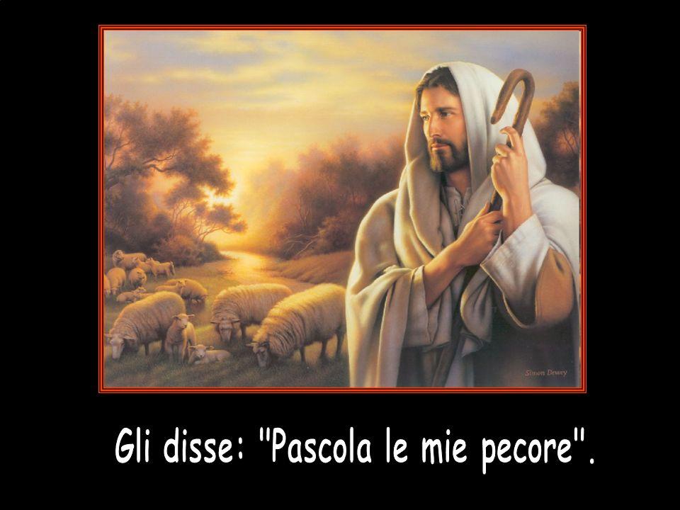 , Quando Gesù per la terza volta ripete la richiesta a Pietro non usa più il verbo agapao, ma il verbo fileo.