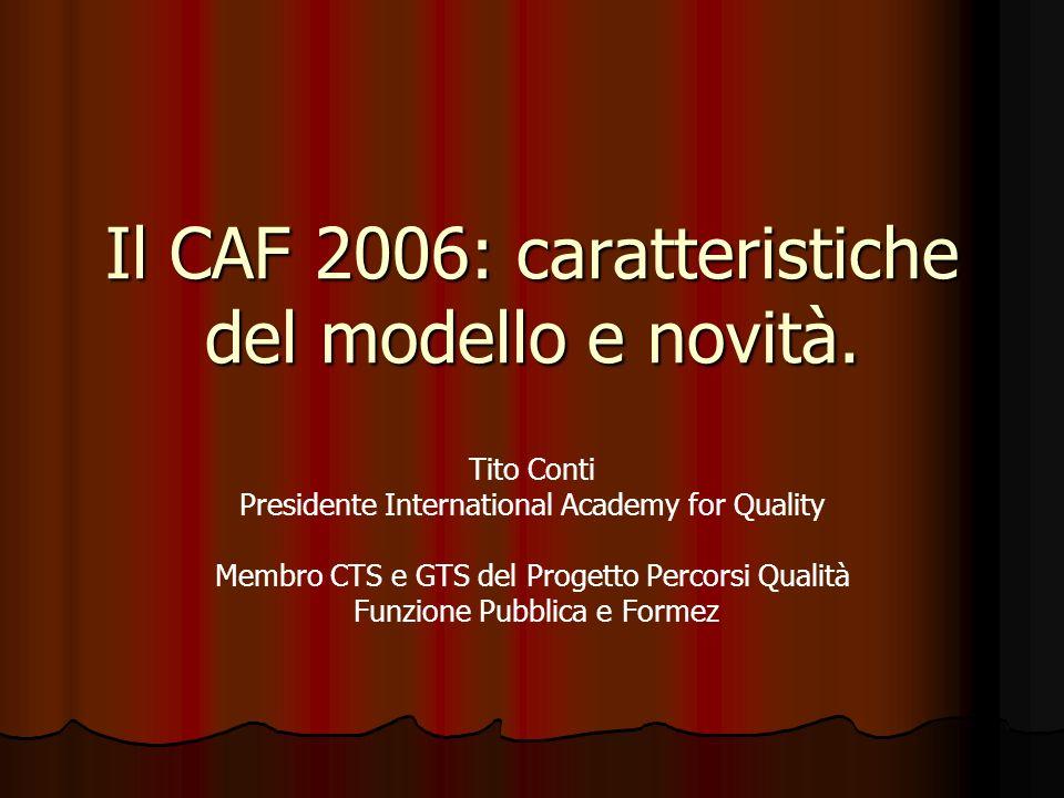 Il CAF 2006: caratteristiche del modello e novità.