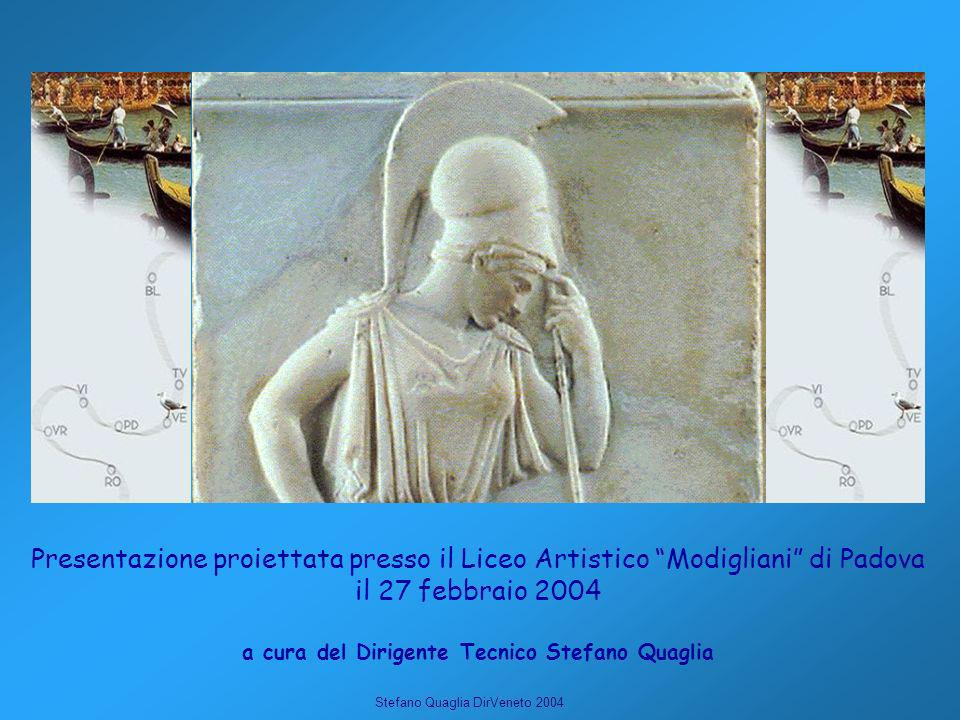 Stefano Quaglia DirVeneto 2004 Presentazione proiettata presso il Liceo Artistico Modigliani di Padova il 27 febbraio 2004 a cura del Dirigente Tecnic