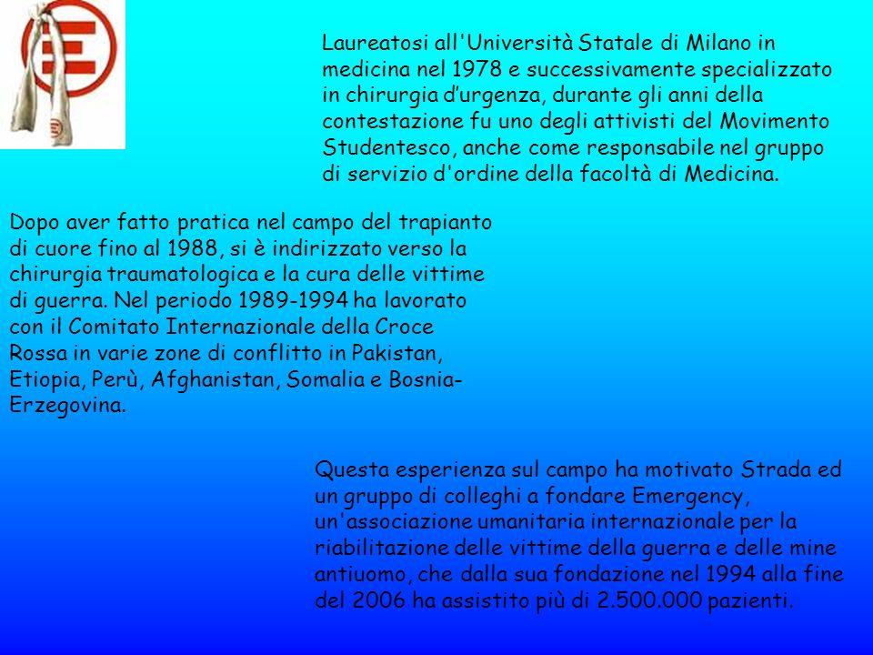 Laureatosi all'Università Statale di Milano in medicina nel 1978 e successivamente specializzato in chirurgia durgenza, durante gli anni della contest
