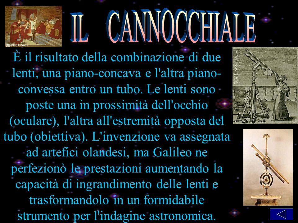 Il cannocchiale È il risultato della combinazione di due lenti, una piano-concava e l altra piano- convessa entro un tubo.