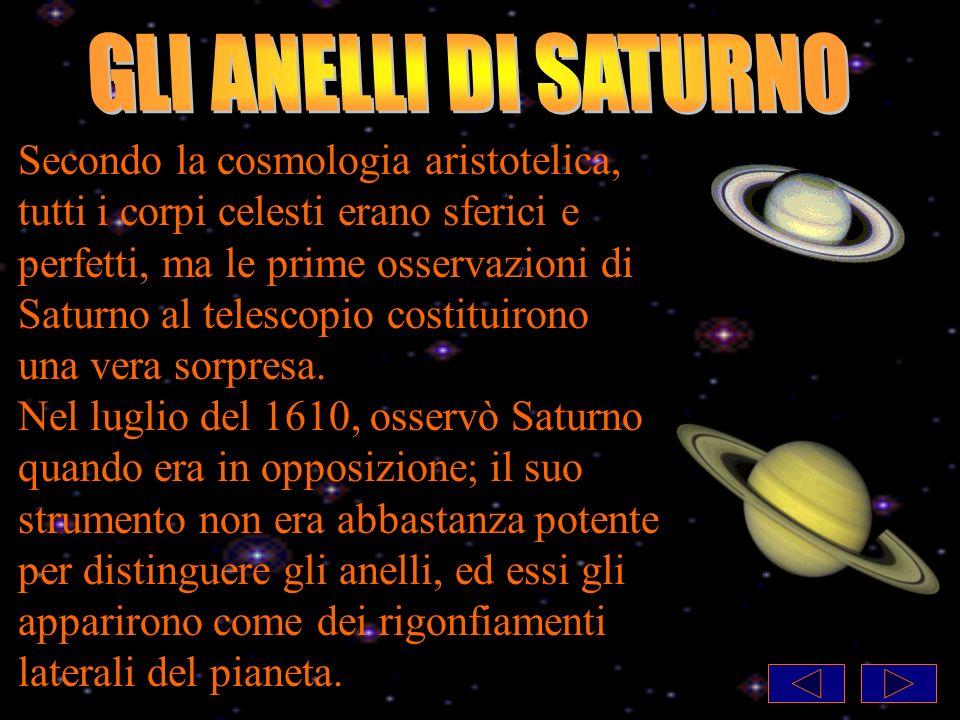 Secondo la cosmologia aristotelica, tutti i corpi celesti erano sferici e perfetti, ma le prime osservazioni di Saturno al telescopio costituirono una vera sorpresa.