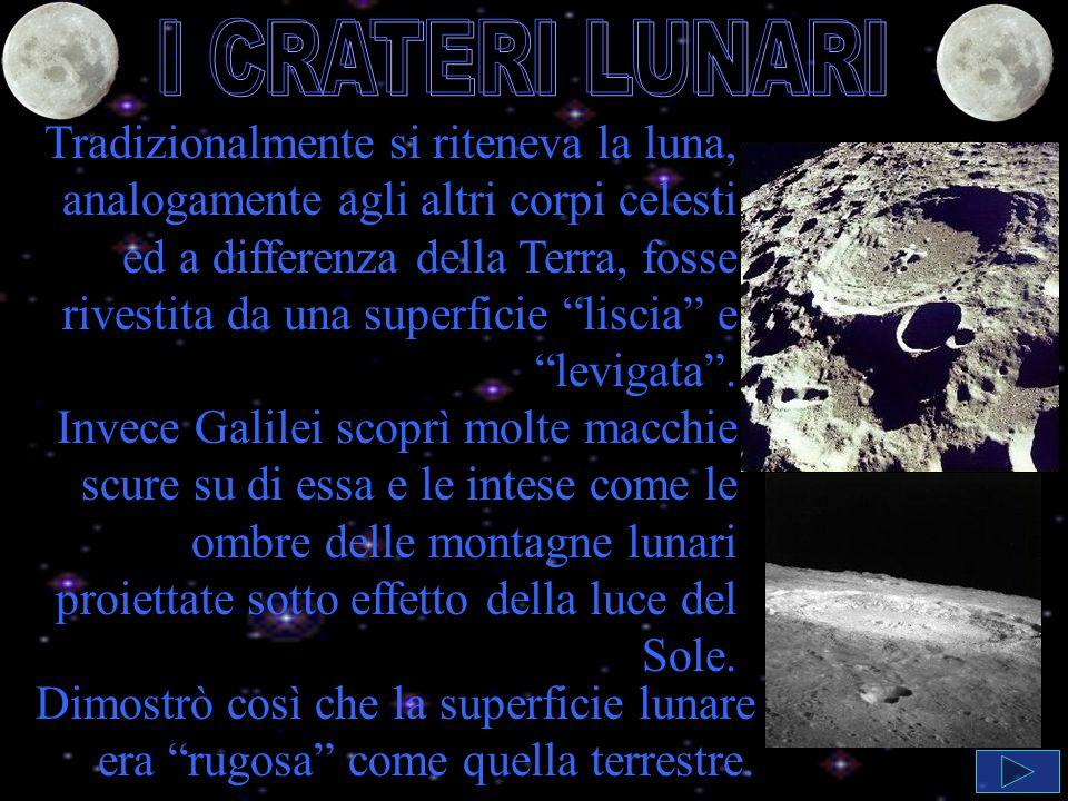 Tradizionalmente si riteneva la luna, analogamente agli altri corpi celesti ed a differenza della Terra, fosse rivestita da una superficie liscia e levigata.
