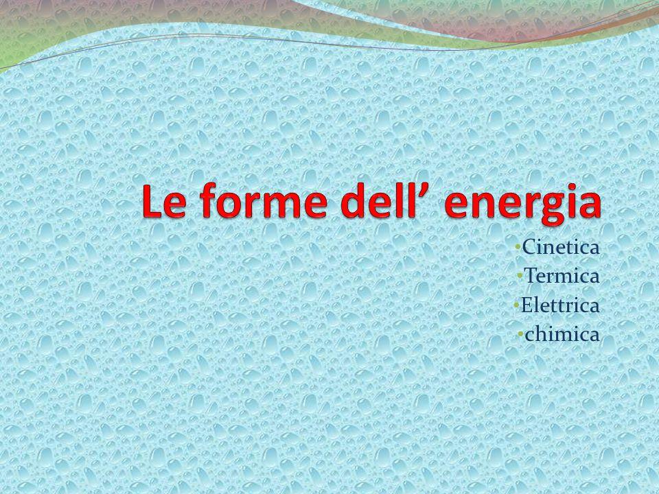 Cinetica Termica Elettrica chimica