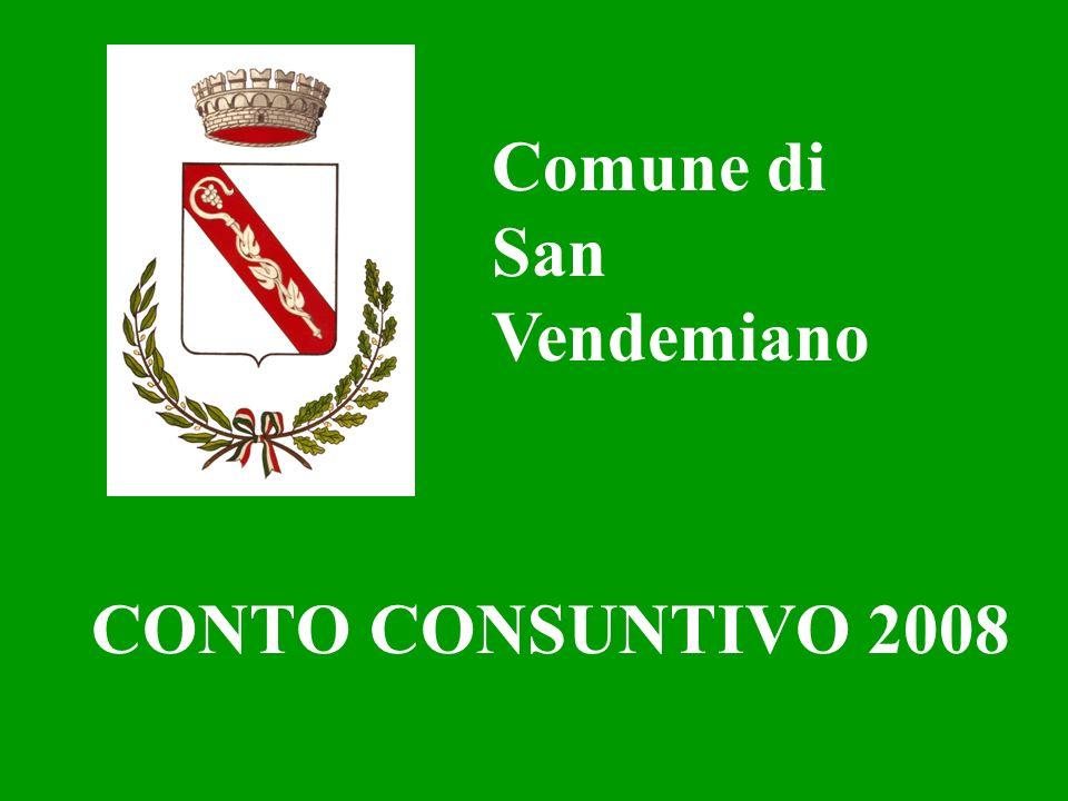 CONTO CONSUNTIVO 2008 Comune di San Vendemiano