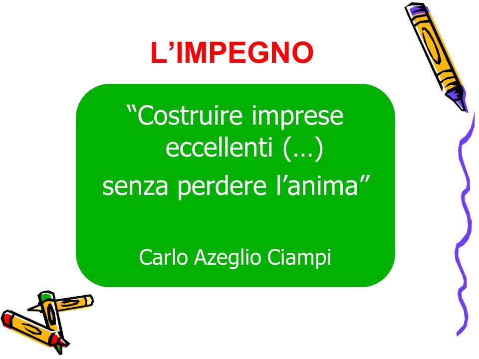 LIMPEGNO Costruire imprese eccellenti (…) senza perdere lanima Carlo Azeglio Ciampi