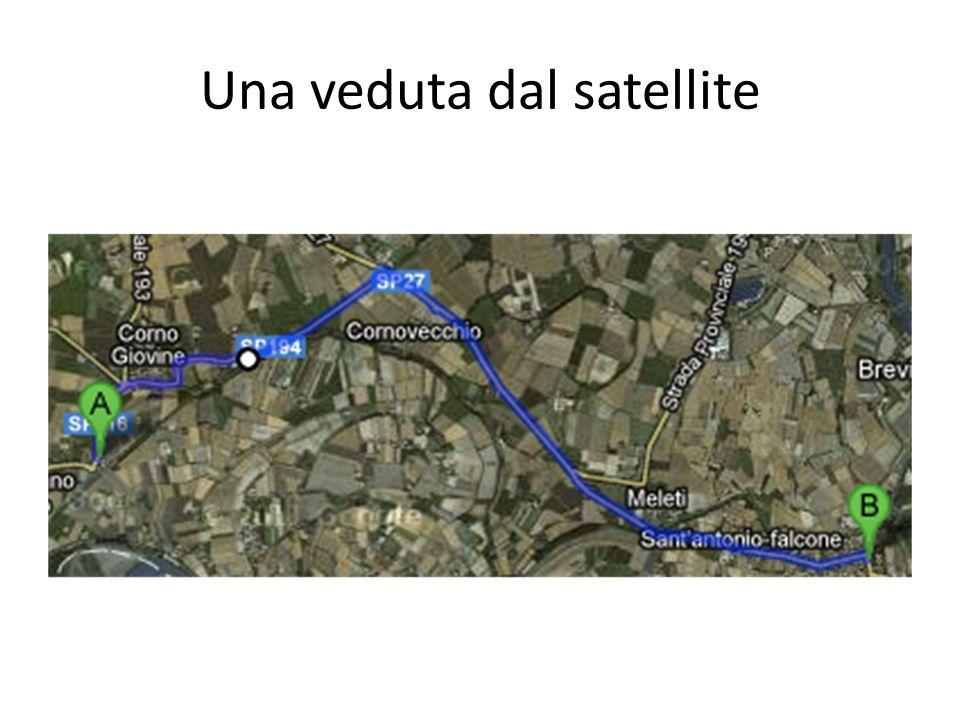 Una veduta dal satellite