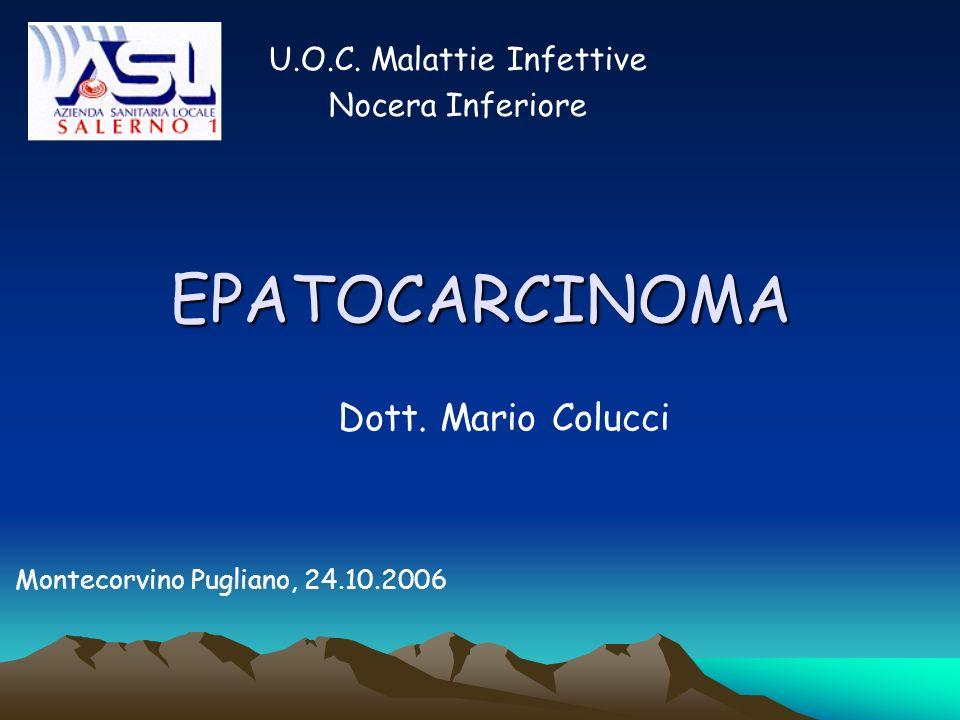 EPATOCARCINOMA U.O.C. Malattie Infettive Nocera Inferiore Dott. Mario Colucci Montecorvino Pugliano, 24.10.2006