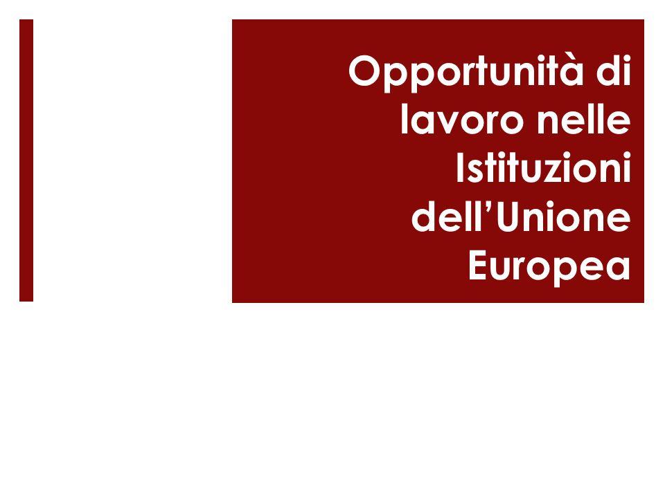 Opportunità di lavoro nelle Istituzioni dellUnione Europea