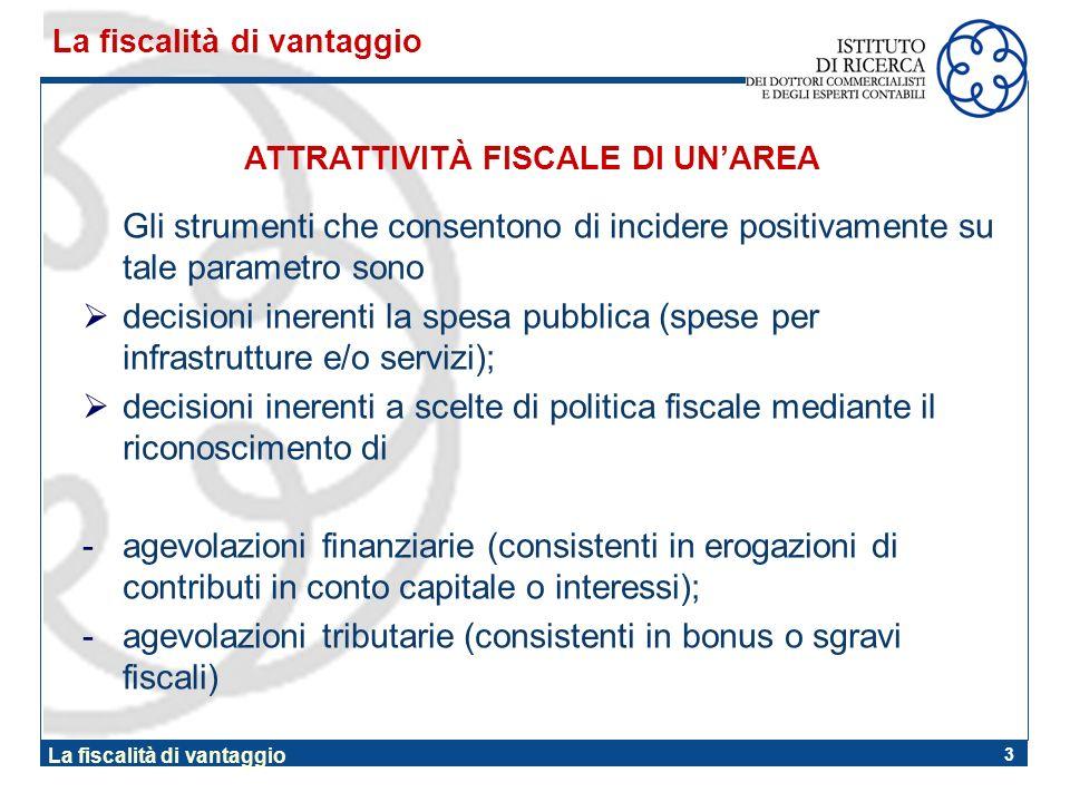 3 Gli strumenti che consentono di incidere positivamente su tale parametro sono decisioni inerenti la spesa pubblica (spese per infrastrutture e/o ser