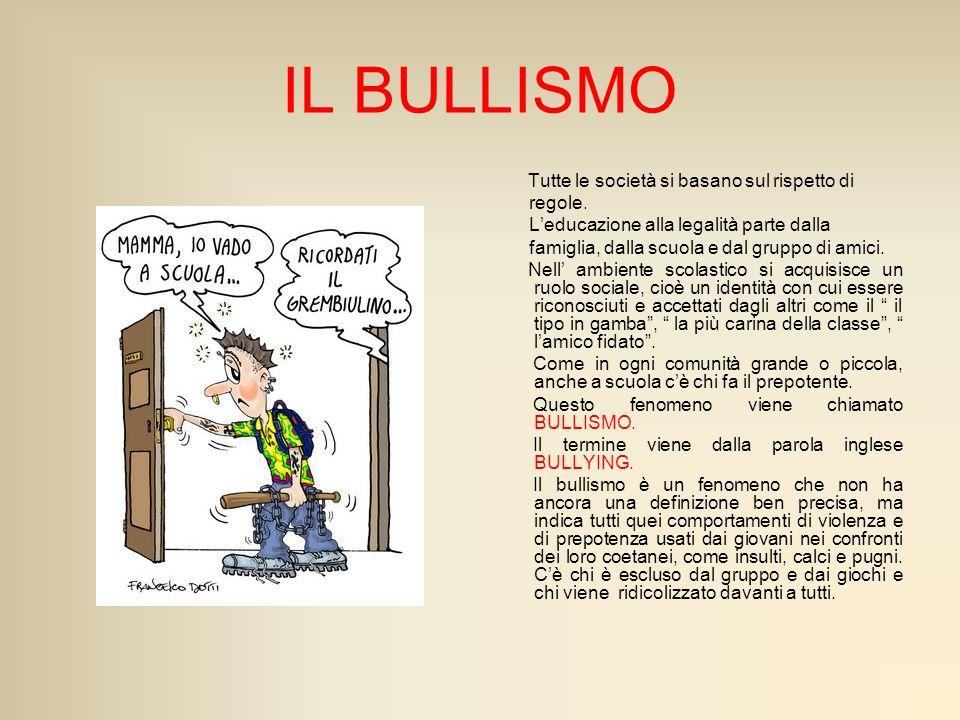Il bullismo è un fenomeno che si può riscontrare soprattutto tra i banchi di scuola; numerosi sono infatti gli episodi di bullismo che ci vengono raccontati dai Tg e dai mezzi di comunicazione di massa.