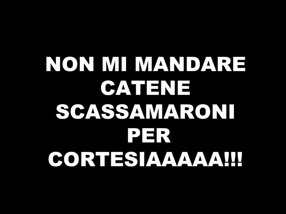 NON MI MANDARE CATENE SCASSAMARONI PER CORTESIAAAAA!!!
