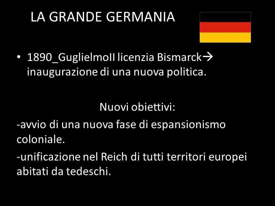 LA GRANDE GERMANIA 1890_GuglielmoII licenzia Bismarck inaugurazione di una nuova politica.