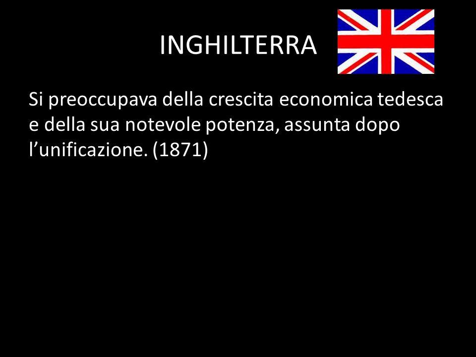 ITALIA Avrebbe voluto unificarsi sottraendo allAustria le regioni di Trento e Trieste.