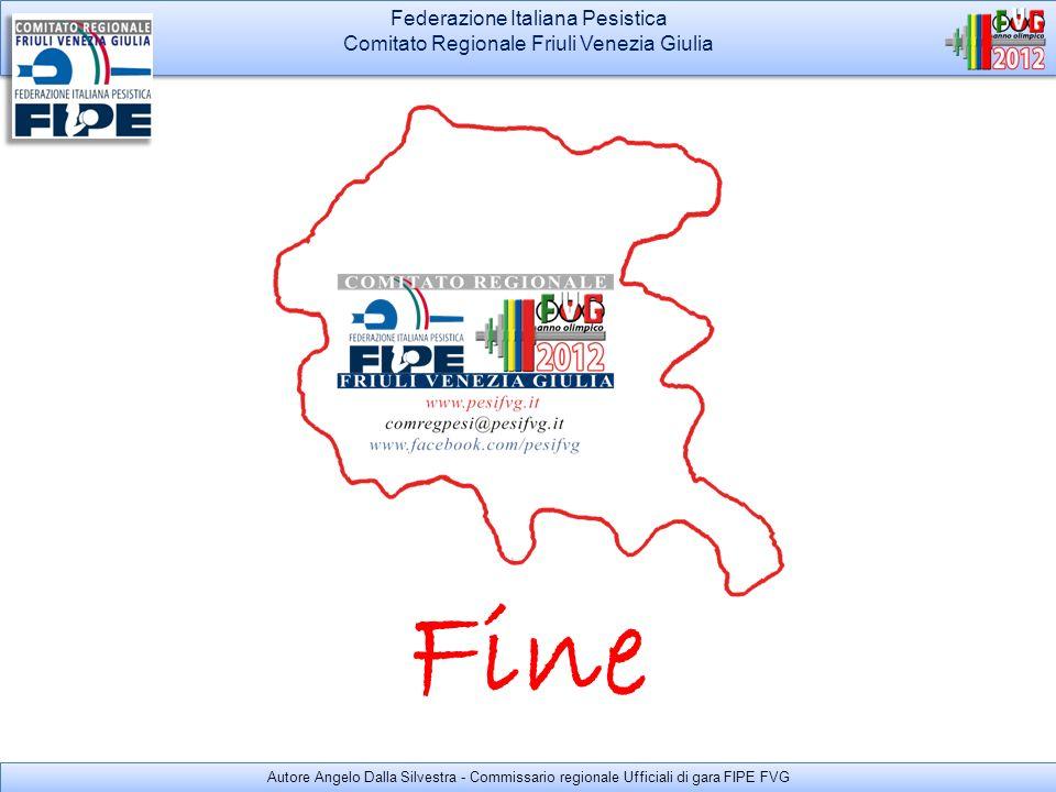 Federazione Italiana Pesistica Comitato Regionale Friuli Venezia Giulia Federazione Italiana Pesistica Comitato Regionale Friuli Venezia Giulia Autore