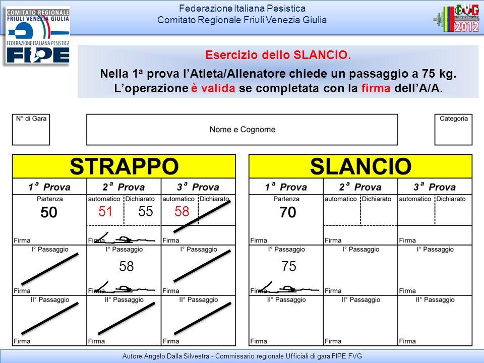 Federazione Italiana Pesistica Comitato Regionale Friuli Venezia Giulia Federazione Italiana Pesistica Comitato Regionale Friuli Venezia Giulia ALZATA VALIDA LAtleta esegue lalzata a 75 kg.