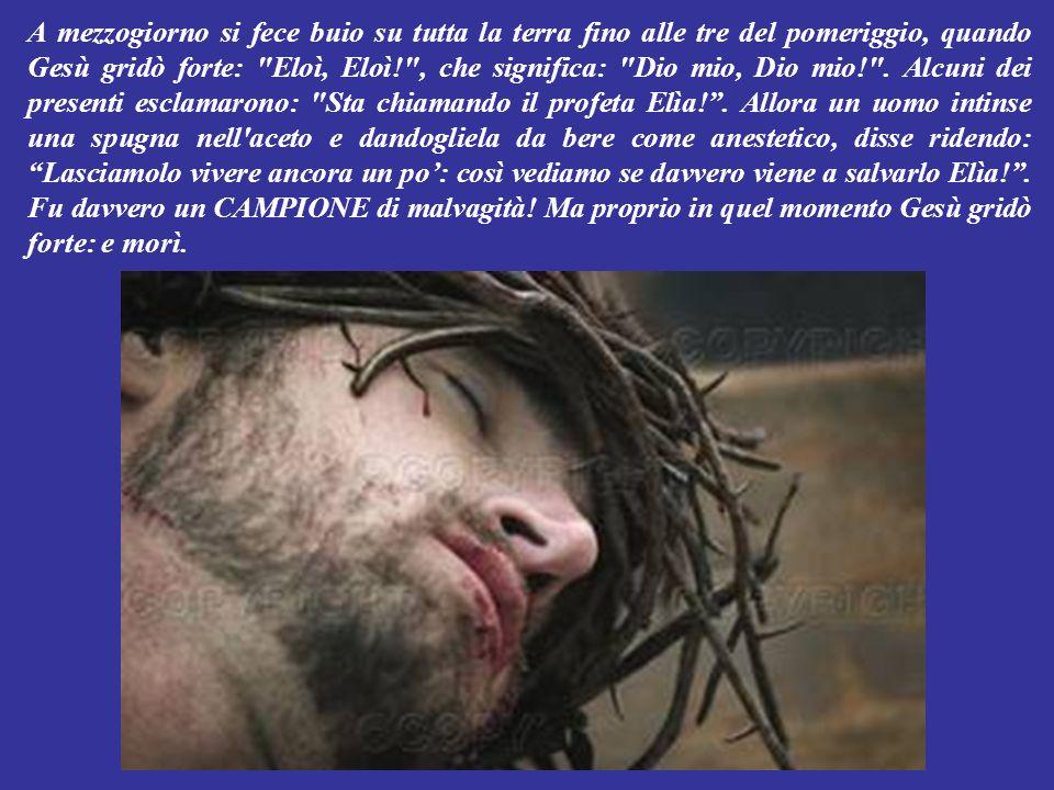 E persino i capi dei sacerdoti ed i maestri della Bibbia, prendendolo in giro gli dicevano: Guardatelo, dice di essere venuto per salvare gli altri: non riesce nemmeno a salvare se stesso.