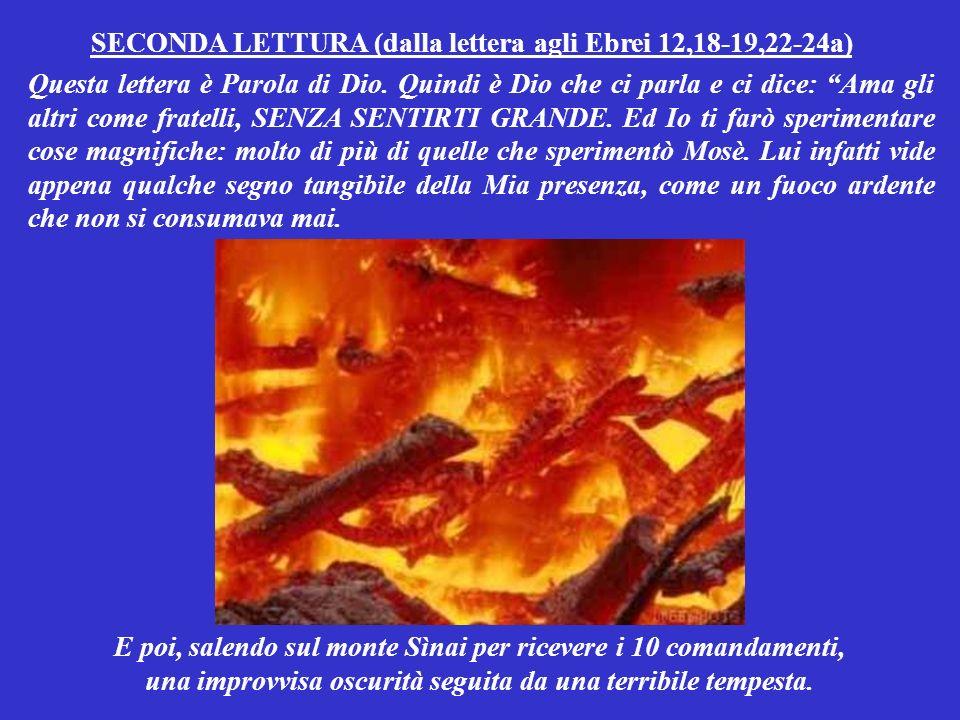 Perchè Io amo i deboli, i poveri, gli umili: … Buona domenica da Antonio Di Lieto (www.bellanotizia.it) Sottofondo musicale: GRANDE GRANDE GRANDE (Mina) NON CHI SI SENTE GRANDE .