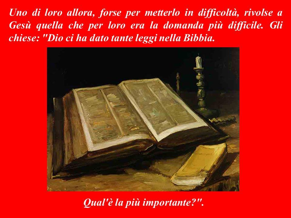VANGELO (Marco 12,28b-34) Gli scrìbi si vantavano di conoscere e rispettare tutte le leggi religiose, ma odiavano profondamente quelli che non le osse