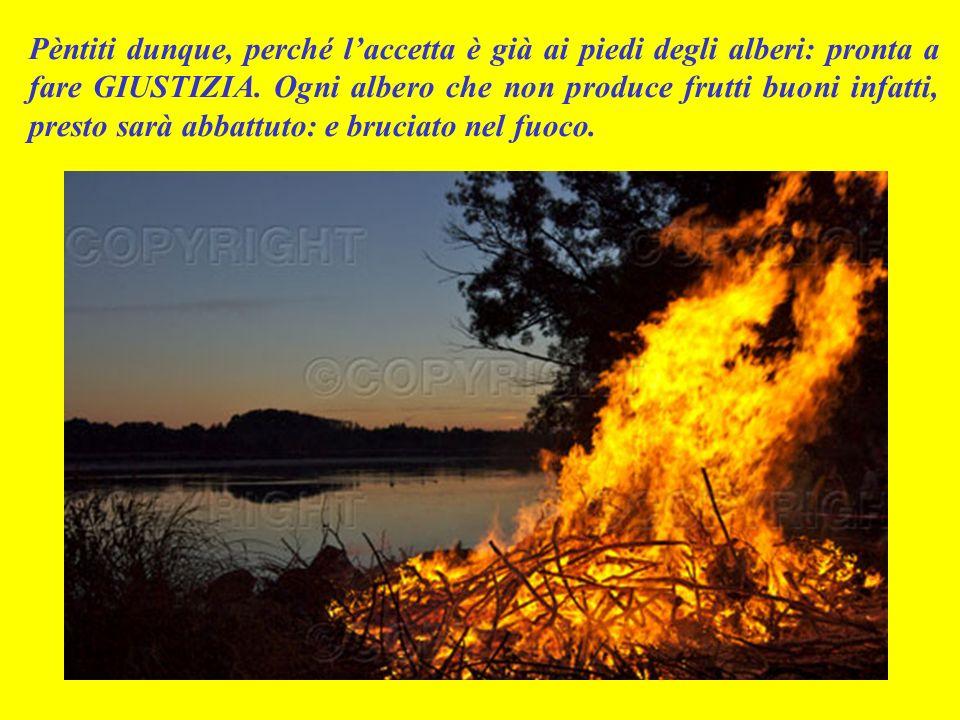 Spesso però venivano a farsi battezzare anche sadducèi e farisèi: uomini solo apparentemente devoti, ma in realtà cattivi e malvagi.