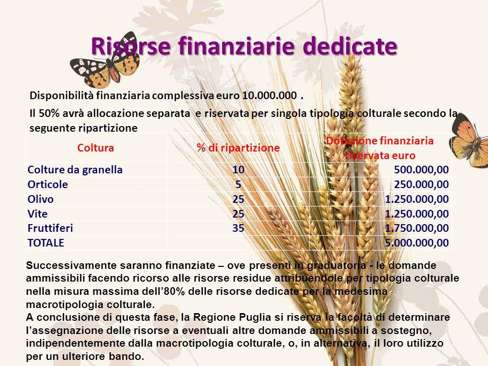 Disponibilità finanziaria complessiva euro 10.000.000.