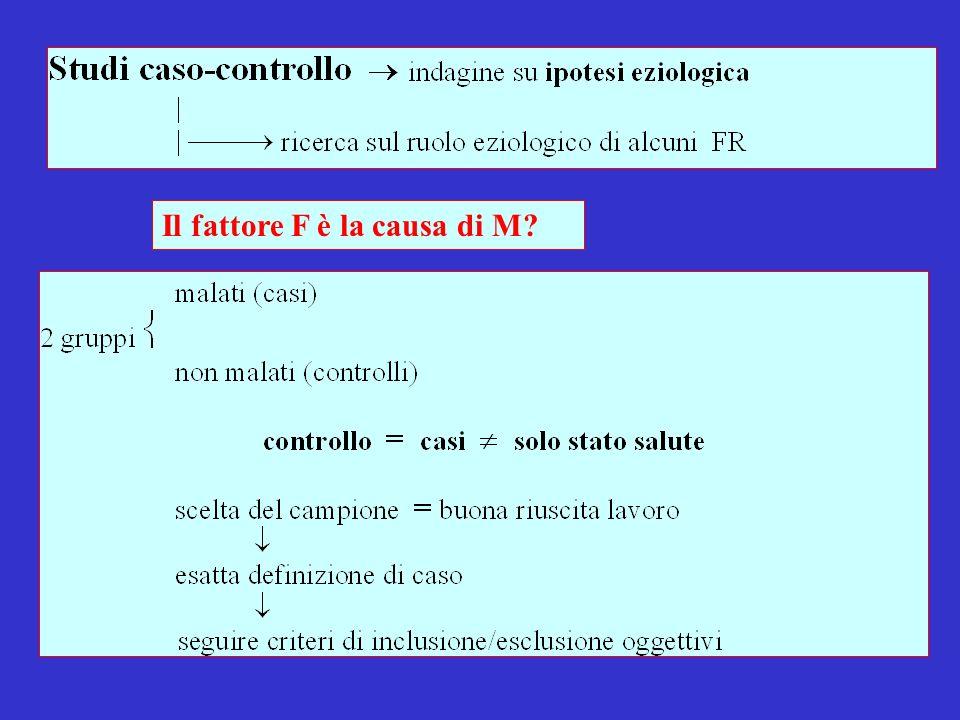 Il fattore F è la causa di M?