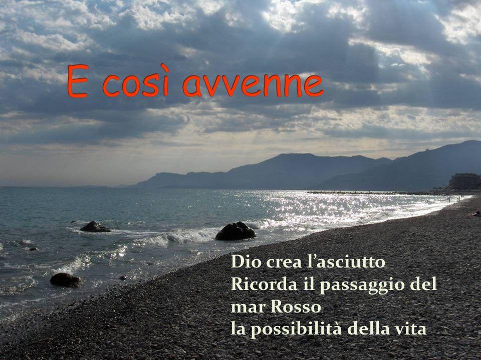 Dio crea lasciutto Ricorda il passaggio del mar Rosso la possibilità della vita