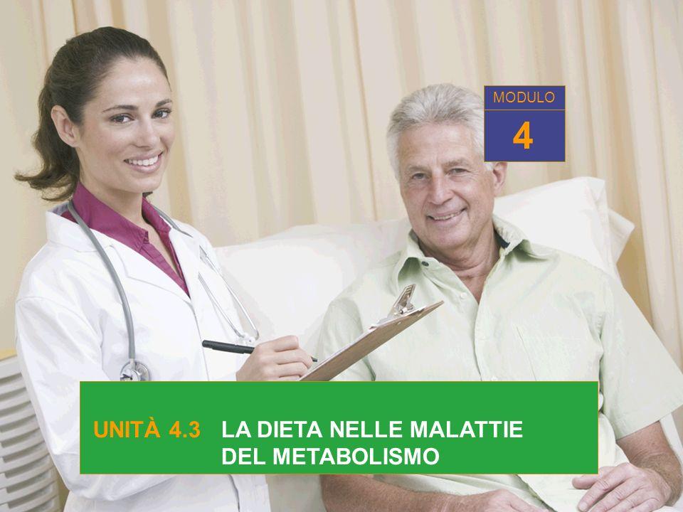 UNITÀ 4.3 LA DIETA NELLE MALATTIE DEL METABOLISMO 4 MODULO