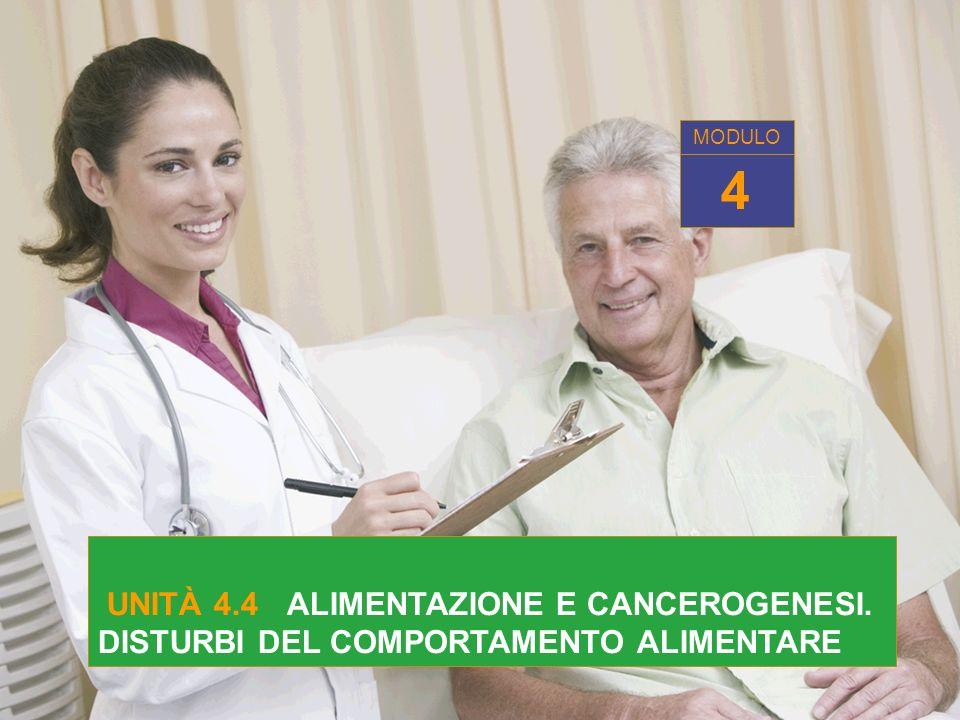 UNITÀ 4.4 ALIMENTAZIONE E CANCEROGENESI. DISTURBI DEL COMPORTAMENTO ALIMENTARE 4 MODULO