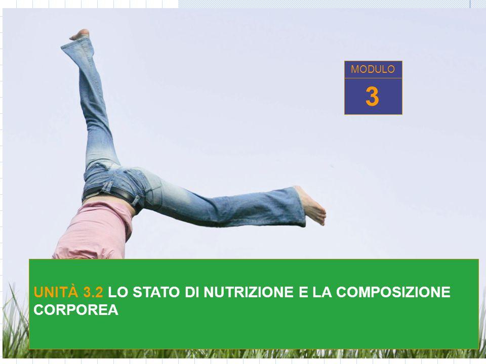 UNITÀ 3.2 LO STATO DI NUTRIZIONE E LA COMPOSIZIONE CORPOREA 3 MODULO