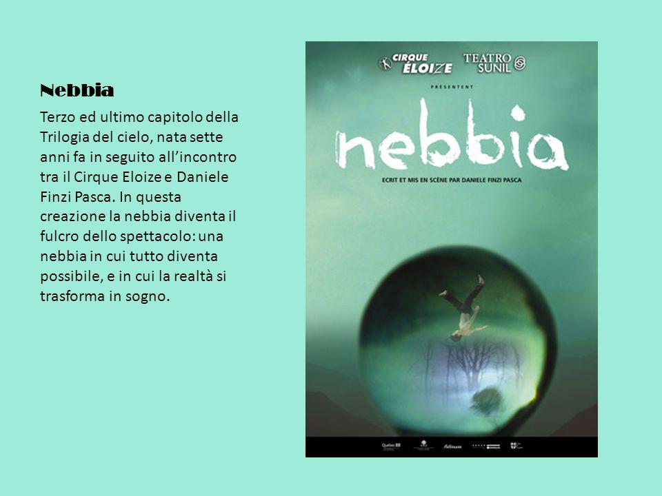 Nebbia Terzo ed ultimo capitolo della Trilogia del cielo, nata sette anni fa in seguito allincontro tra il Cirque Eloize e Daniele Finzi Pasca.