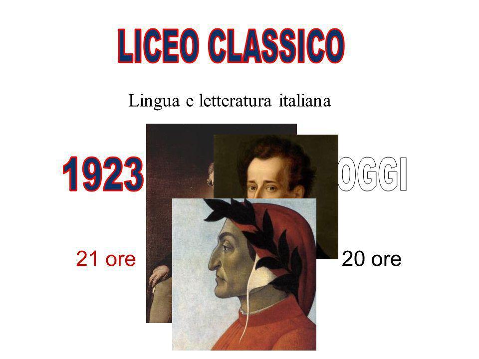 Lingua e letteratura italiana 20 ore21 ore