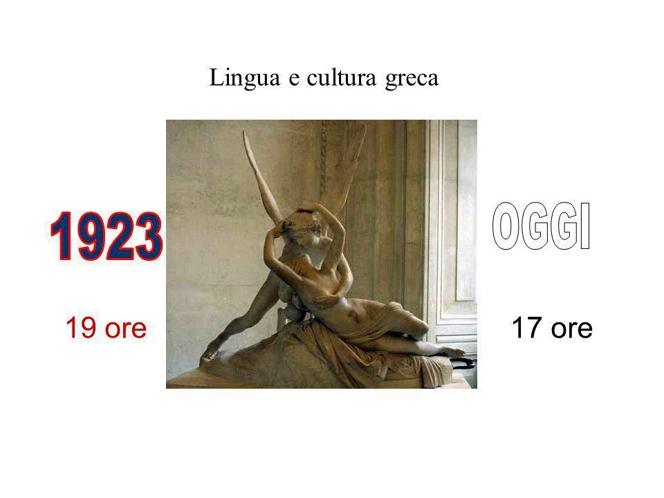 Lingua e cultura greca 17 ore19 ore