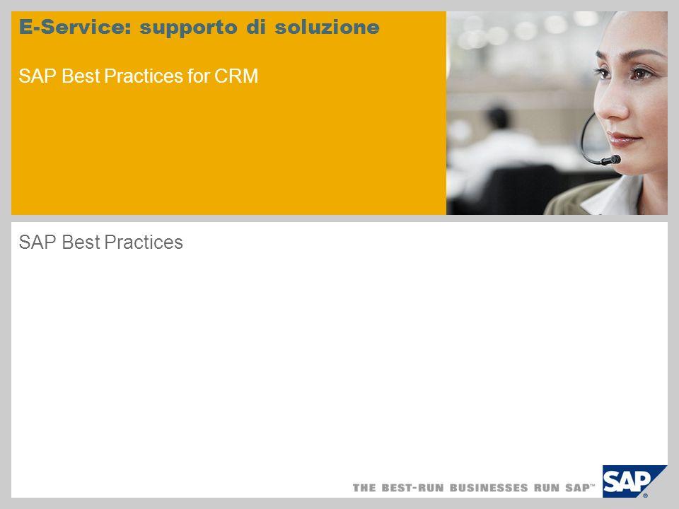 Riepilogo scenario - 1 Finalità Il presente scenario illustra la procedura tipica nella quale un cliente usa un E- Commerce Internet Customer Self-Service per cercare informazioni o soluzioni per un problema relativo ad un prodotto acquistato di recente.