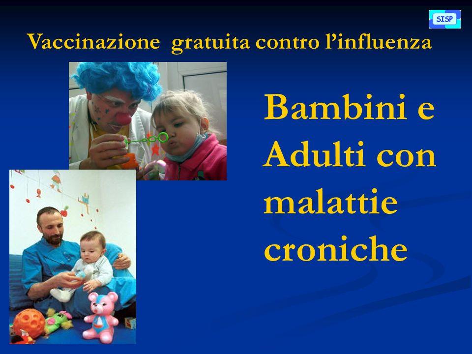 Vaccinazione gratuita contro linfluenza Bambini e Adulti con malattie croniche
