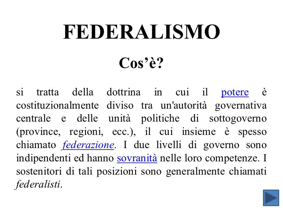 FEDERALISMO FISCALE Comprendere quali tra le competenze e gli strumenti fiscali del governo dovrebbero essere centralizzate e quali dovrebbero essere poste nella sfera dei livelli decentrati.